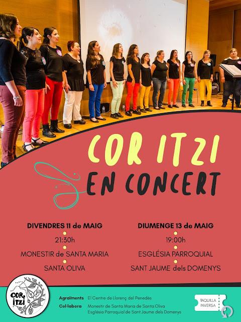 Esguard de Dona - Cor Itzi en concert a Sant Jaume dels Domenys - Diumenge 13 de maig de 2018 a les 19 hores - Església Parroquial