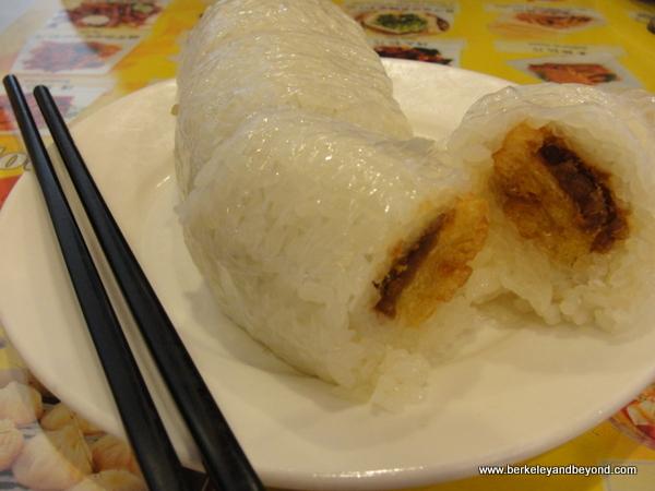 rice roll at Shanghai Dumpling Shop in Millbrae, California