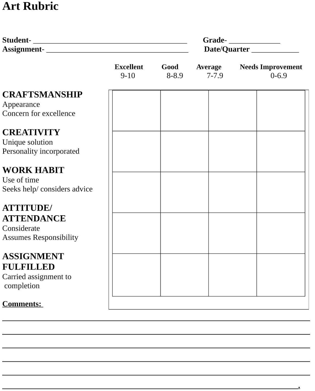 Basic Rubric Template greenairductcleaningus winsome resumes and – Blank Rubric Template