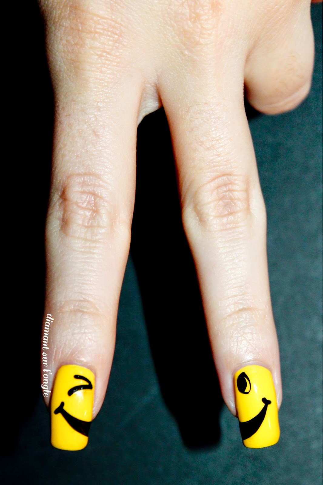 Smiley Face Nail Art // Happiness Day