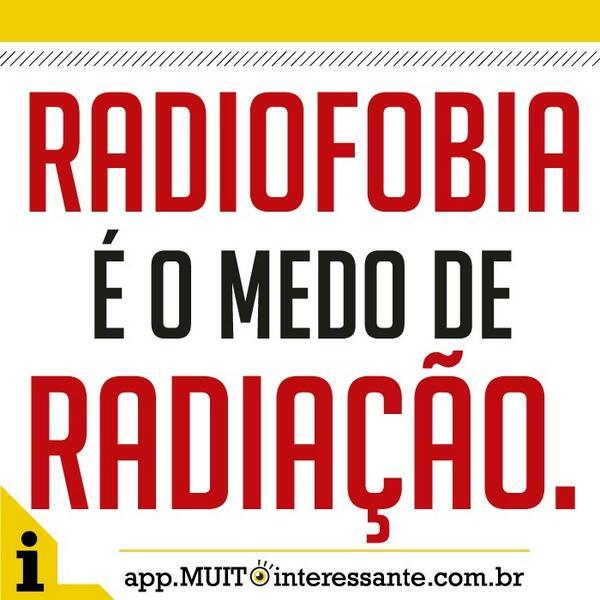 Medo de Radiação