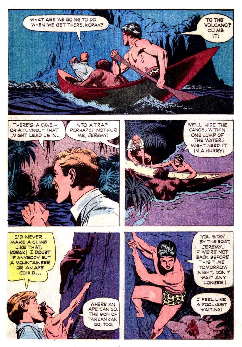 Korak Son of Tarzan v1 #3 gold key silver age 1960s comic book page art by Russ Manning