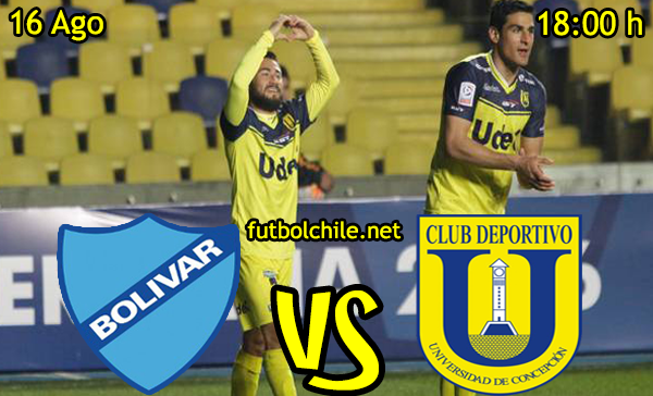 Ver stream hd youtube facebook movil android ios iphone table ipad windows mac linux resultado en vivo, online: Bolívar vs Universidad de Concepción