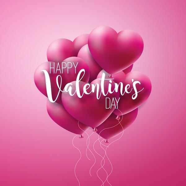 Valentine Heart shape with pink valentine background Free vector download