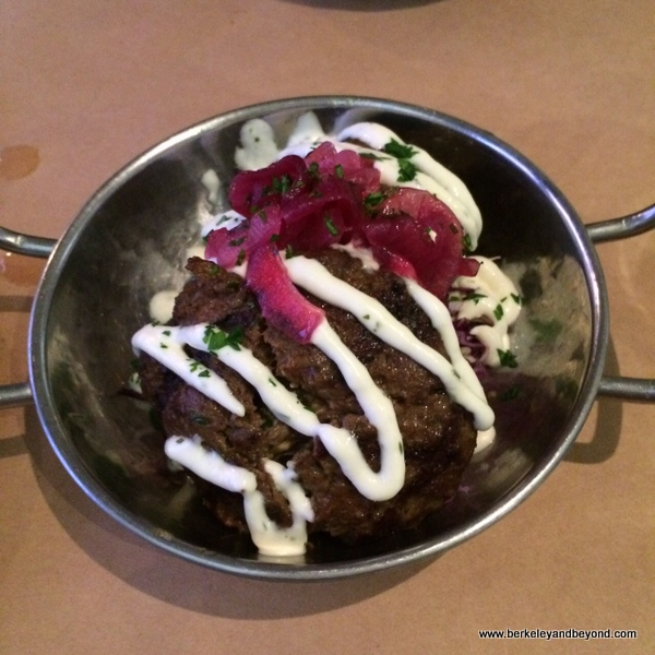 Moroccan meatballs at Aquarelle Cafe & Wine Bar in Boonville, California