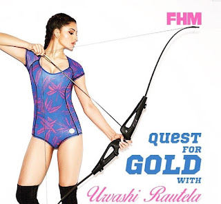 Urvashi Rautela in Swimsuit in FHM Magazine
