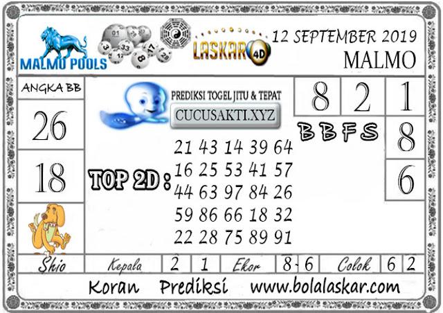 Prediksi Togel Jitu MALMO LASKAR4D 12 SEPTEMBER 2019