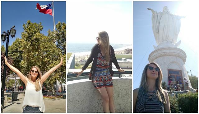 Verão roupas levar para uma viagem para o Chile