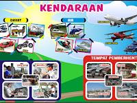 Download Alat Peraga PAUD Tema Kendaraan.cdr