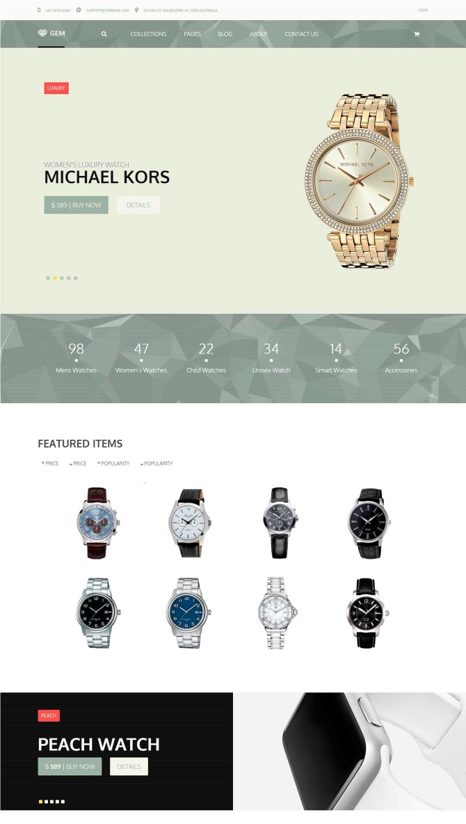 Gem — Luxury eCommerce Responsive WordPress Theme
