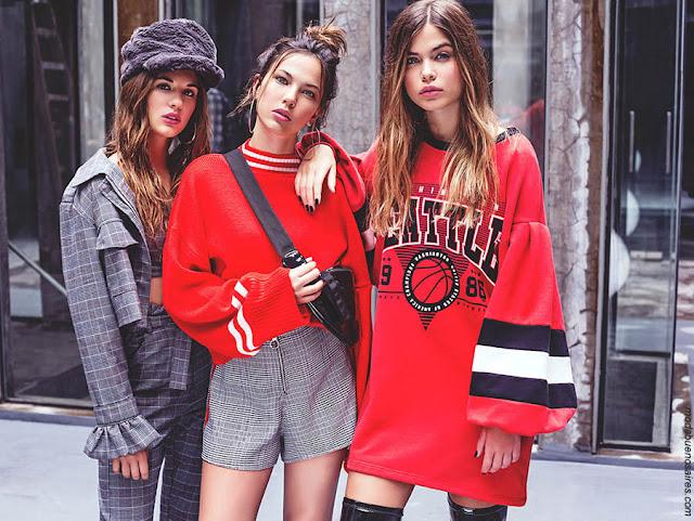 Moda otoño invierno 2018 ropa de mujer juvenil.