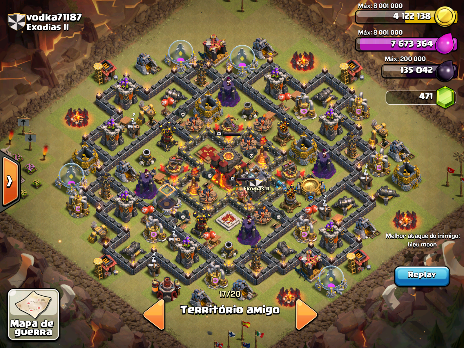 Best Base Hall Tesla Clans Town Clash 7 Hidden No