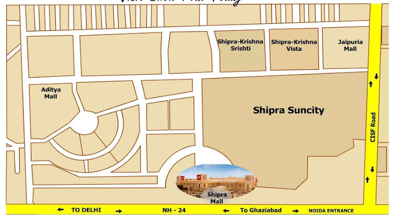 Shipra_Srishti_location_map