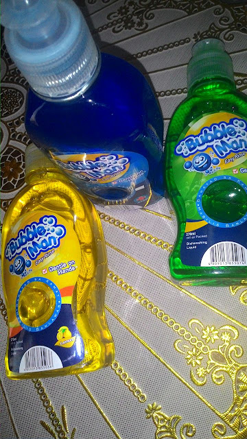 Product Review: Bubble Man Dishwashing Liquid