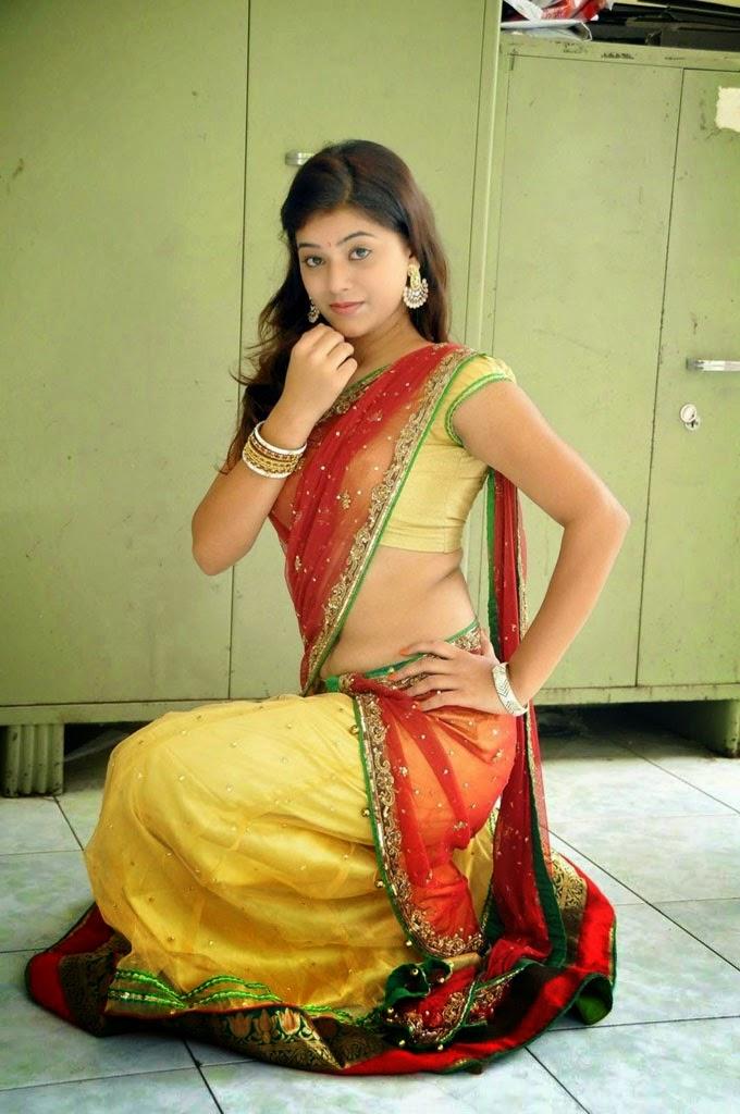 telugu heroine half saree photos