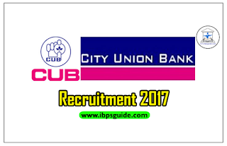 City Union Bank Recruitment 2017 – Check Here to Apply Now