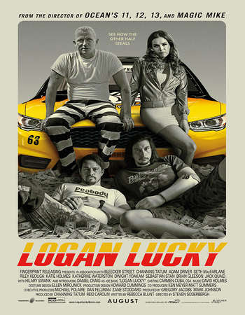 Watch Online Logan Lucky 2017 720P HD x264 Free Download Via High Speed One Click Direct Single Links At WorldFree4u.Com