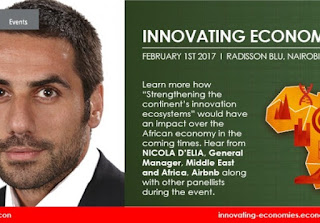 The event will take place on February 1st at the Radisson Blue Hotel in Nairobi; The event is organised by UK based, The Economist Events and sponsored by Microsoft, Johnson & Johnson and EIB;