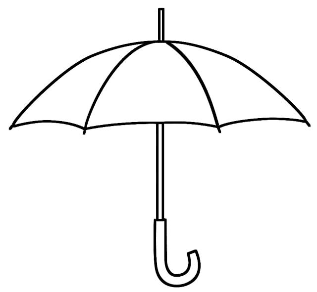 coloriage parapluie ouvert