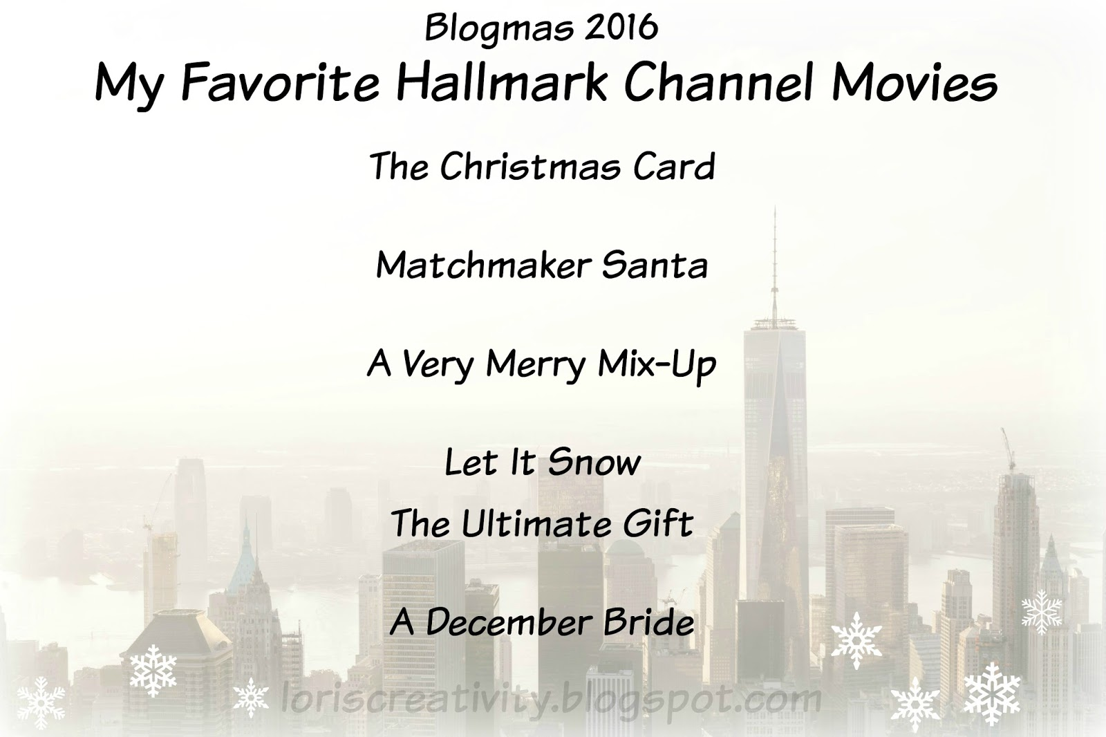 Writing My Story Blogmas Day 7 Favorite Hallmark Channel