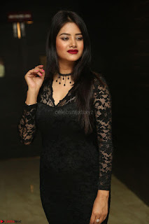 Actress Monica in spicy transparent Black Top at O Pilla Nee Valla Movie Audio Launch Feb 2017 120.JPG
