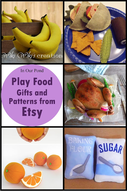 Play Food Products from Etsy- a gift guide from In Our Pond