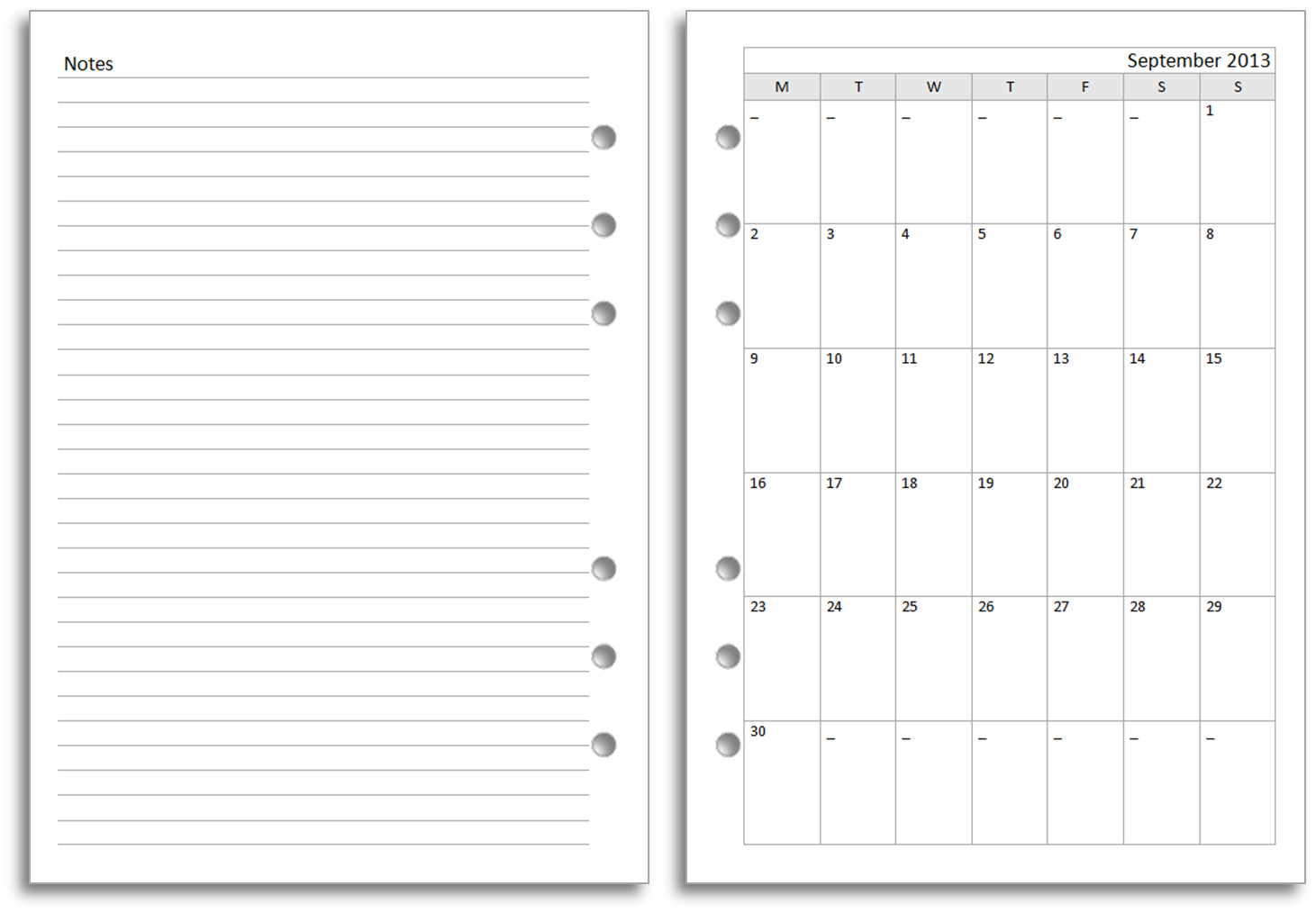 Philofaxy: New Filofax A5 diary layout for free download - Month ...