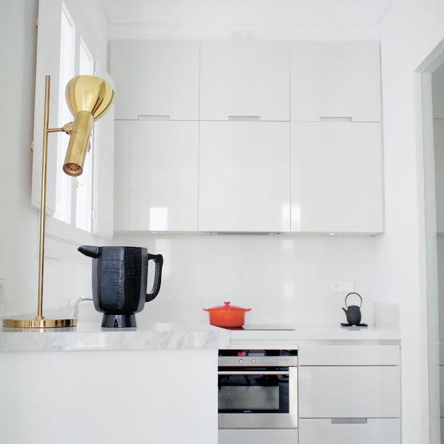 muebles de cocina lacados en blanco brillo chicanddeco