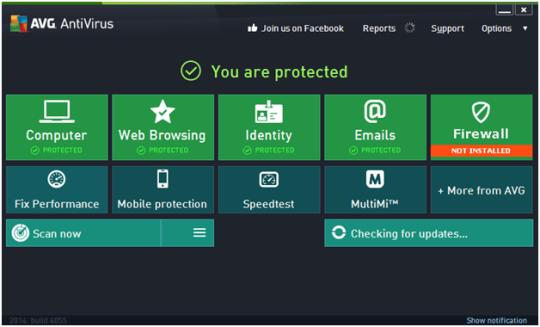 تحميل برنامج الحماية من الفيروسات والبرامج الضارة أحدث إصدار مجاناً AVG AntiVirus 2014.0.4117