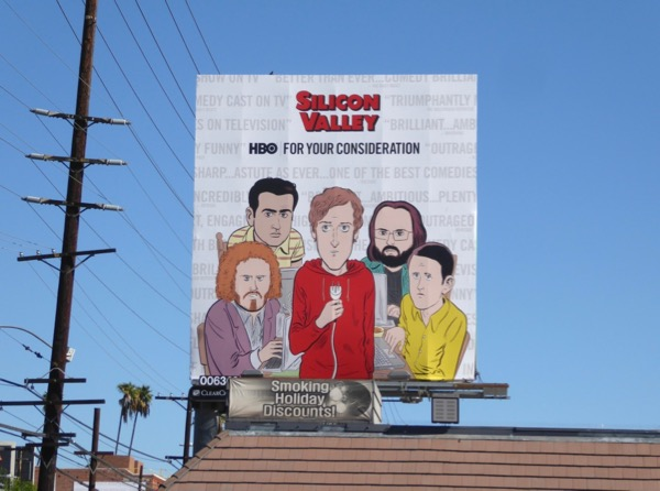 Silicon Valley season 4 Golden Globes FYC billboard