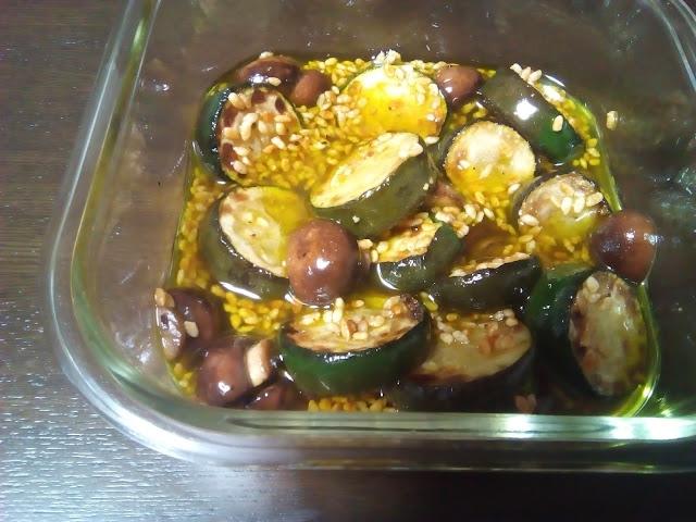 ズッキーニとマッシュルームのマリネ