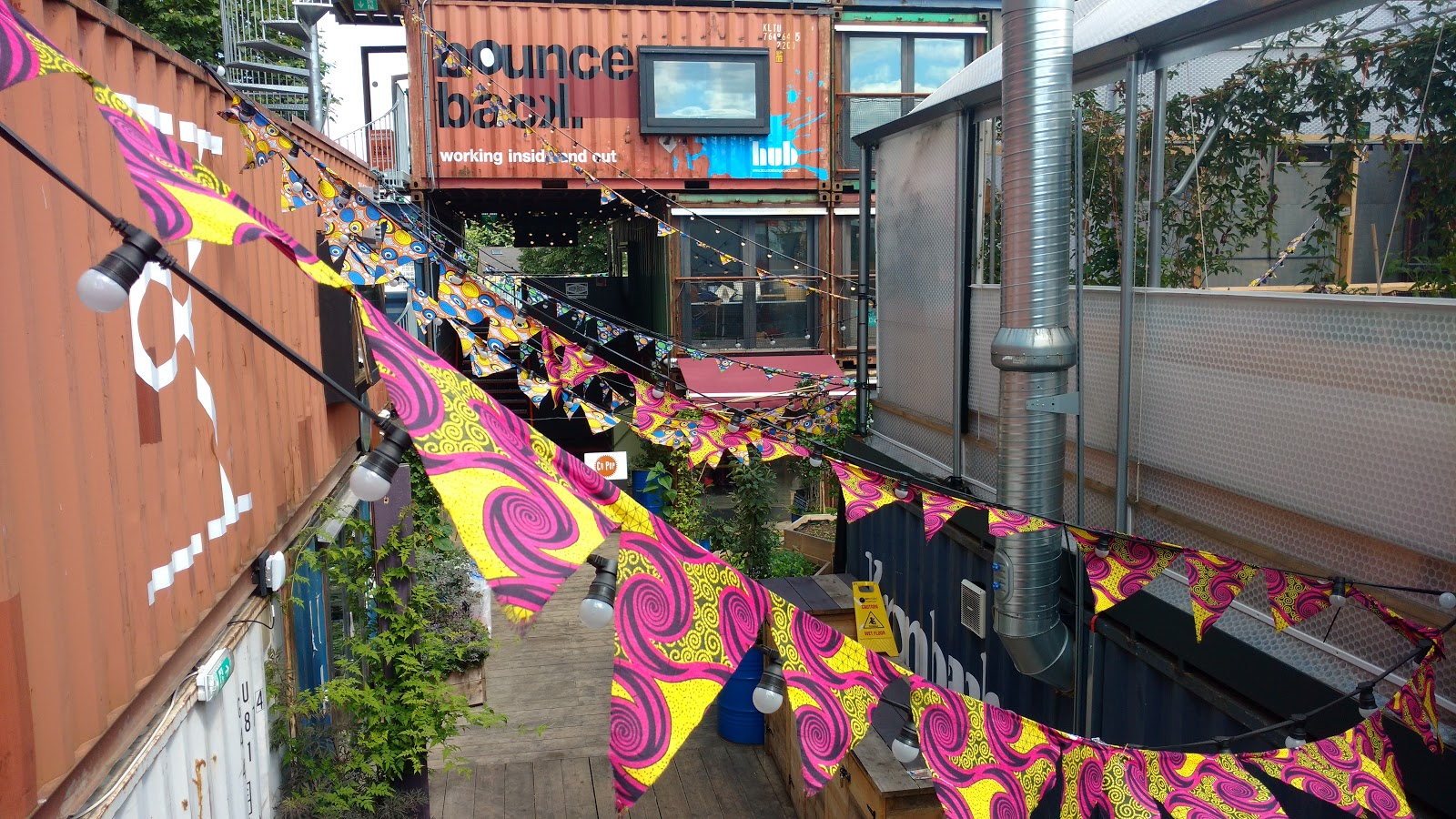 Pop Brixton is constructed from shipping containers, an innovative architectural design.