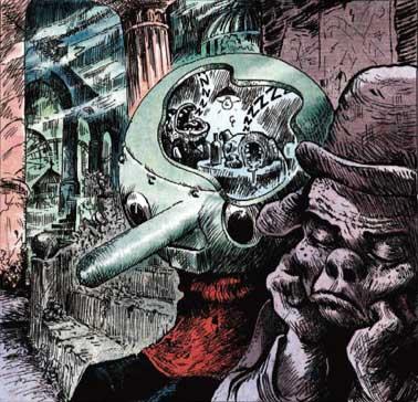 Ilustración de Pinocchio por Vincent Paronnaud (Winshluss)
