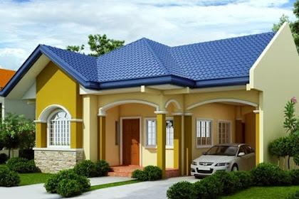 57 Model Rumah Sederhana di Kampung Tampak Depan