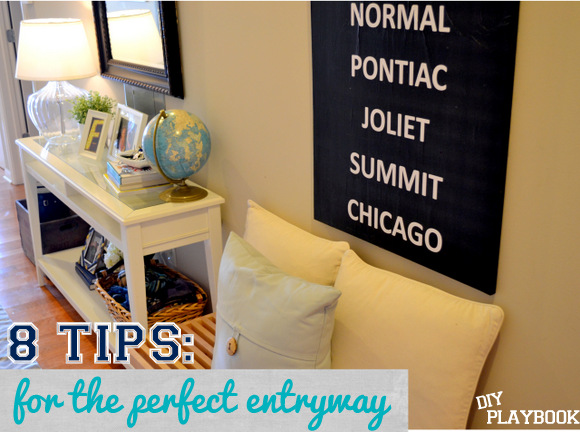 8 Tips for the perfect entryway foyer mudroom: Design Your Entryway | DIY Playbook