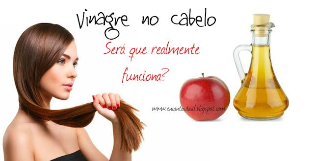 vinagre de maçã nos cabelos