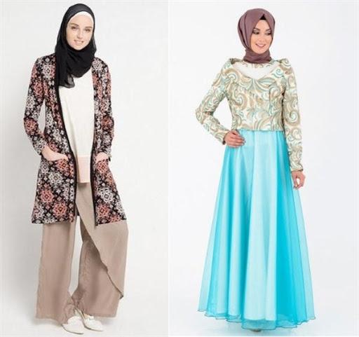 Model Baju Muslim Batik Modern Terbaru 2017/2018