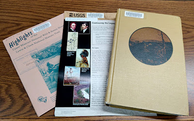 pamphlets and book about Lewis and Clark
