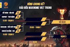 Lịch thi đấu vòng chung kết MAXHOME Việt Trung - Vũ điệu cung R