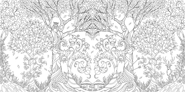 Amazon Enchanted Forest An Inky Quest  Coloring Book   Johanna Basford Books