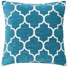 Sofia Chenille Cushion - Teal