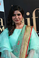 Samantha Ruth Prabhu Smiling Beauty in strange Designer Saree at IIFA Utsavam Awards 2017  Day 2  Exclusive 12.JPG