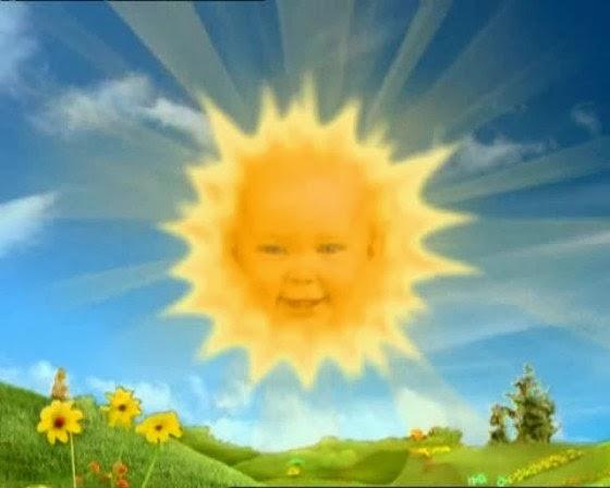 Dan yang terakhir adalah bayi matahari di Teletubbies  dengan suara