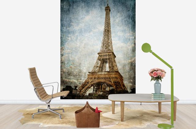 Pariisi Tapetti Vintage Paris Eiffel-torni