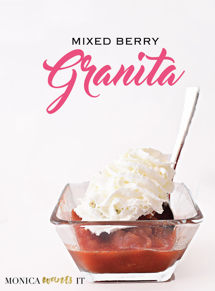 Mixed berry granita recipe.