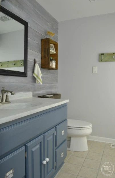 Beautiful Mixed Theme Bathroom Makeover at Refresh Living