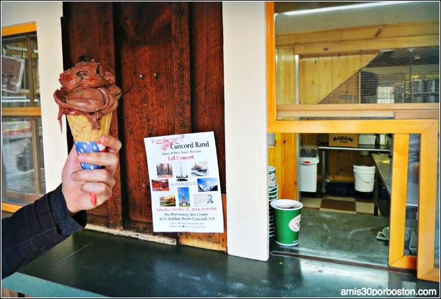 Helado de Chocolate en la Kimball Farm