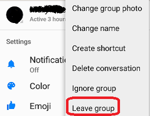 how do i remove myself from a messenger group