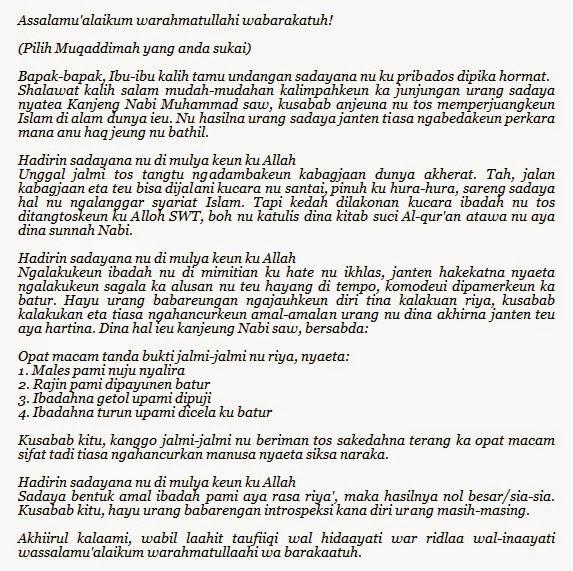 Contoh Pidato Bahasa Sunda Full Lengkap Sentil Berita