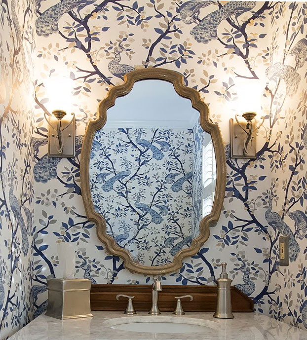 Endless Possibilities. Mirror on wallpaper